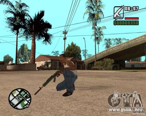 AK-47 from GTA 5 v.1 para GTA San Andreas tercera pantalla