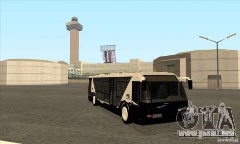 Neoplan Airport bus SA para GTA San Andreas vista hacia atrás