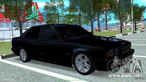 BMW E34 V1.0 para GTA San Andreas vista posterior izquierda