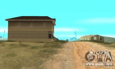 Área en el desierto para GTA San Andreas tercera pantalla