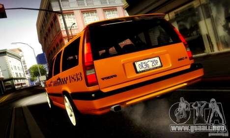 Volvo 850 R Taxi para GTA San Andreas vista posterior izquierda