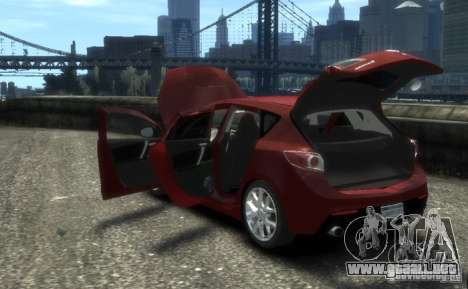 Mazda Speed 3 2010 para GTA 4 vista hacia atrás