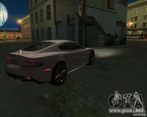 Aston Martin DBS 2009 para GTA San Andreas left