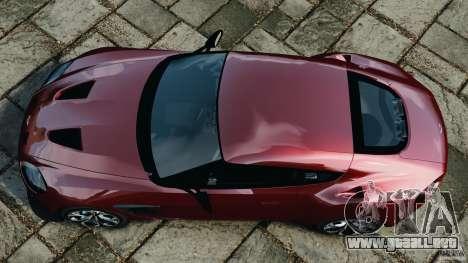 Aston Martin V12 Zagato 2011 v1.0 para GTA 4 visión correcta
