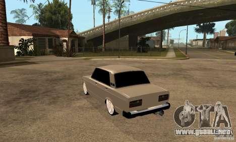 Lada VAZ 2107 LT para GTA San Andreas vista posterior izquierda