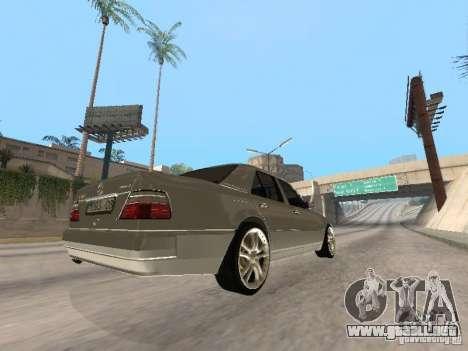 Mercedes-Benz W124 E500 para GTA San Andreas vista hacia atrás