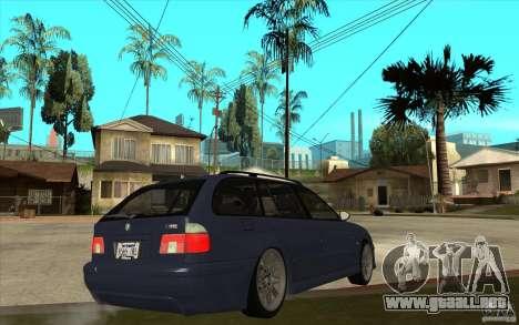 BMW M5 E39 530tdi Touring para la visión correcta GTA San Andreas