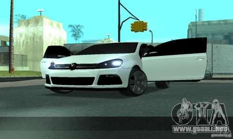Volkswagen Golf R Modifiye para vista lateral GTA San Andreas