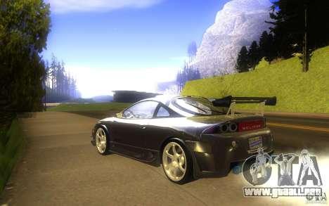 Mitsubishi Eclipse DriftStyle para GTA San Andreas vista posterior izquierda