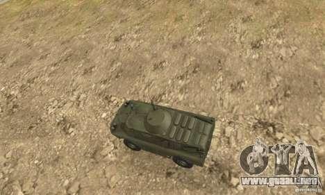 BRDM-2 Standard Edition para GTA San Andreas vista hacia atrás