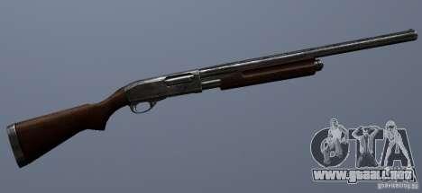 Remington 870AE Silver para GTA San Andreas sucesivamente de pantalla