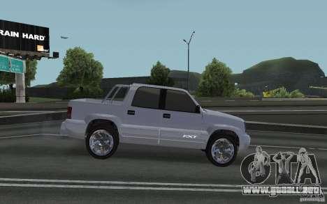 Cavalcade FXT de GTA 4 para GTA San Andreas vista posterior izquierda