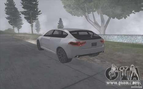 Subaru Impreza-estilo SA para la visión correcta GTA San Andreas