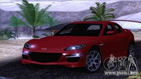 Mazda RX8 R3 2011 para vista lateral GTA San Andreas