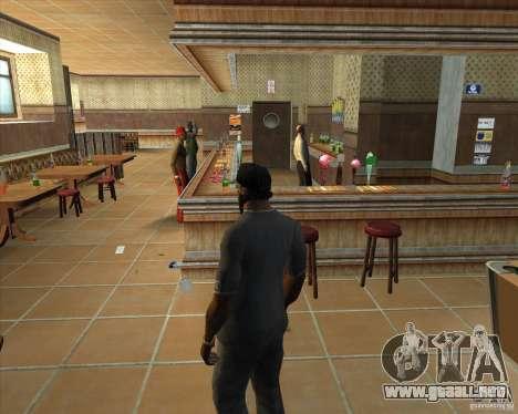 Salierys Bar para GTA San Andreas octavo de pantalla