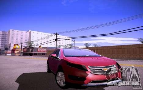 Chevrolet Volt para GTA San Andreas vista posterior izquierda