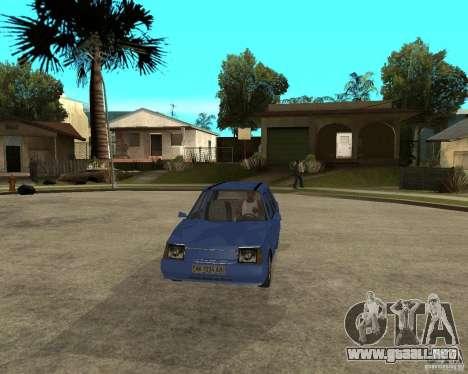 ZAZ 1103 Slavuta para GTA San Andreas vista hacia atrás