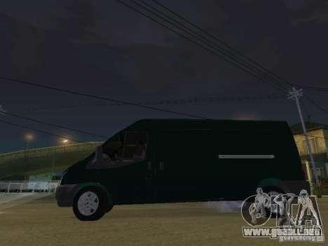 Ford Transit 350L para visión interna GTA San Andreas