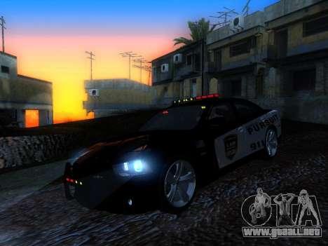 Dodge Charger SRT8 Police para GTA San Andreas vista posterior izquierda