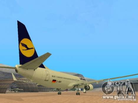 Boeing 737-800 Lufthansa para la visión correcta GTA San Andreas