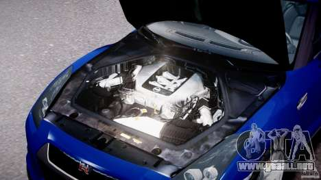 Nissan Skyline GT-R R35 para GTA 4 visión correcta