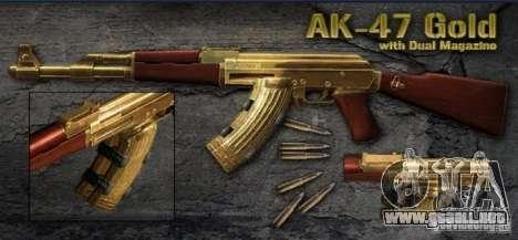 [Point Blank] AK47 Gold para GTA San Andreas