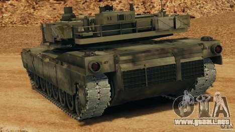 M1A2 Abrams para GTA 4 Vista posterior izquierda