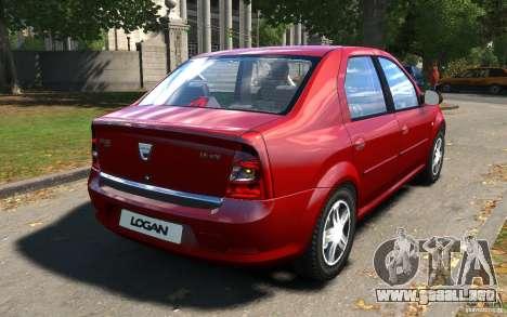 Dacia Logan 2008 para GTA 4 visión correcta