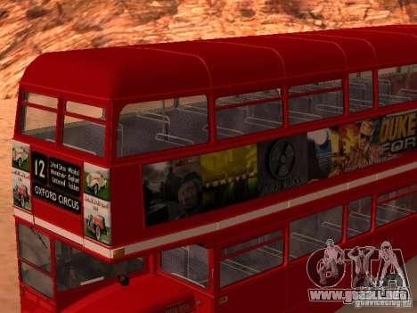 AEC RouteMaster RML para la vista superior GTA San Andreas