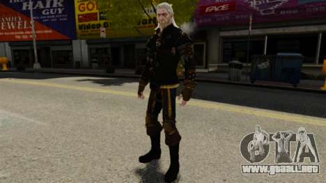Geralt de Rivia v1 para GTA 4 adelante de pantalla