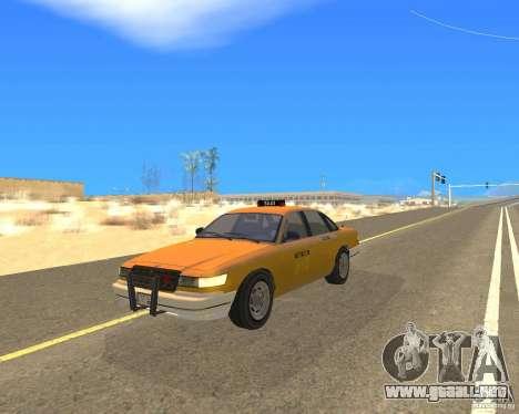 Taxi from GTAIV para GTA San Andreas vista posterior izquierda