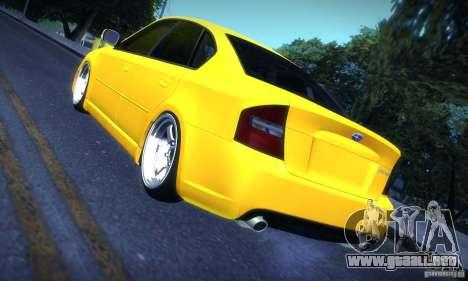 Subaru Legacy BIT edition 2004 para la visión correcta GTA San Andreas