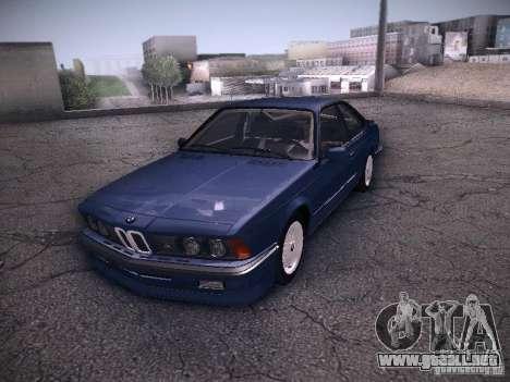 BMW E24 M635CSi 1984 para la visión correcta GTA San Andreas