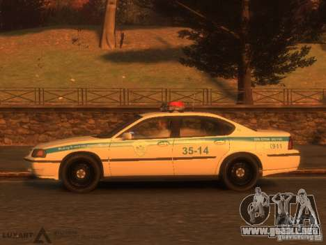 Chevrolet Impala Police 2003 para GTA 4 Vista posterior izquierda