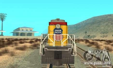 RS3 Diesel locomotor Union Pacific para GTA San Andreas left