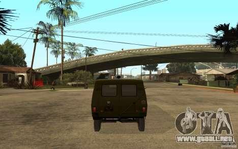 UAZ 3972 para GTA San Andreas vista posterior izquierda