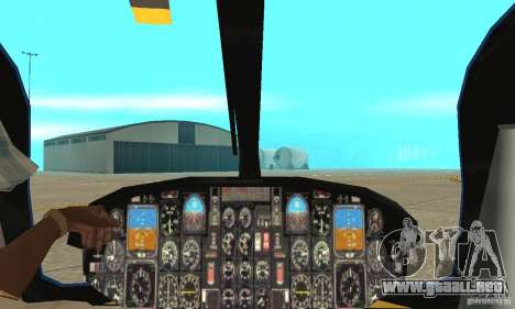 EC-135 Gendarmerie para visión interna GTA San Andreas
