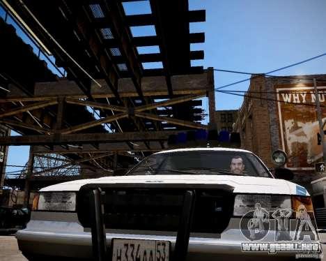 Russian Police Cruiser para GTA 4 vista hacia atrás