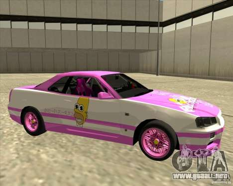 Nissan Skyline R34 Mr.SpaT para GTA San Andreas