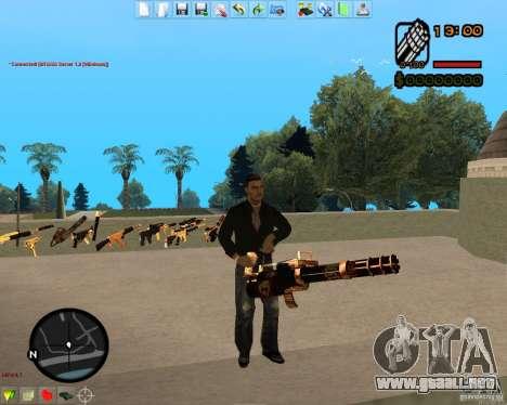 Smalls Chrome Gold Guns Pack para GTA San Andreas novena de pantalla
