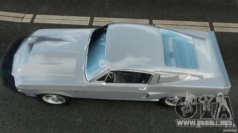 Shelby GT 500 Eleanor para GTA 4 visión correcta