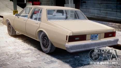 Chevrolet Impala 1983 para GTA 4 visión correcta