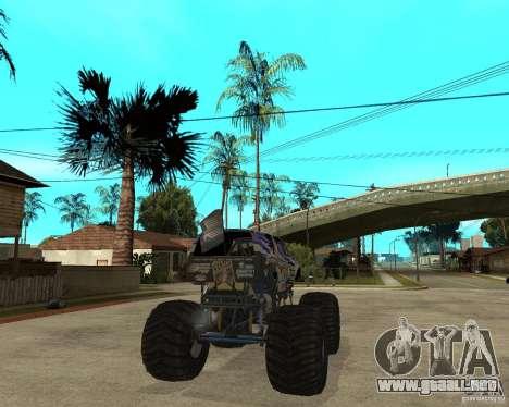 Bounty Hunter para GTA San Andreas vista posterior izquierda