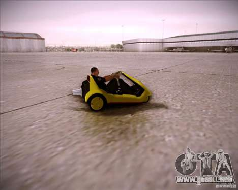 Sinclair C5 para GTA San Andreas vista hacia atrás