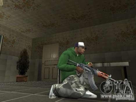 Pak domésticos armas V2 para GTA San Andreas sucesivamente de pantalla