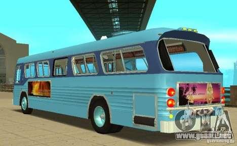 GMC Fishbowl City Bus 1976 para GTA San Andreas vista posterior izquierda