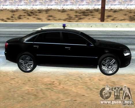 Audi A8L W12 para GTA San Andreas left