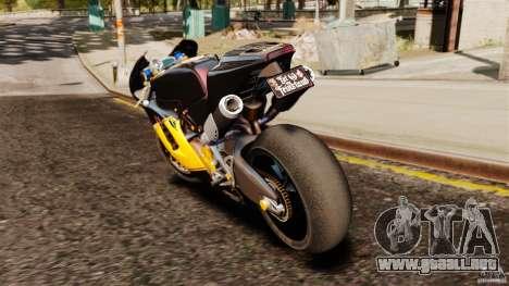 Ducati Desmosedici RR 2012 para GTA 4 Vista posterior izquierda