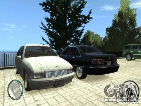 Chevrolet Caprice para GTA 4 left