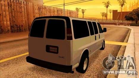GMC Savanna 2500 para la visión correcta GTA San Andreas